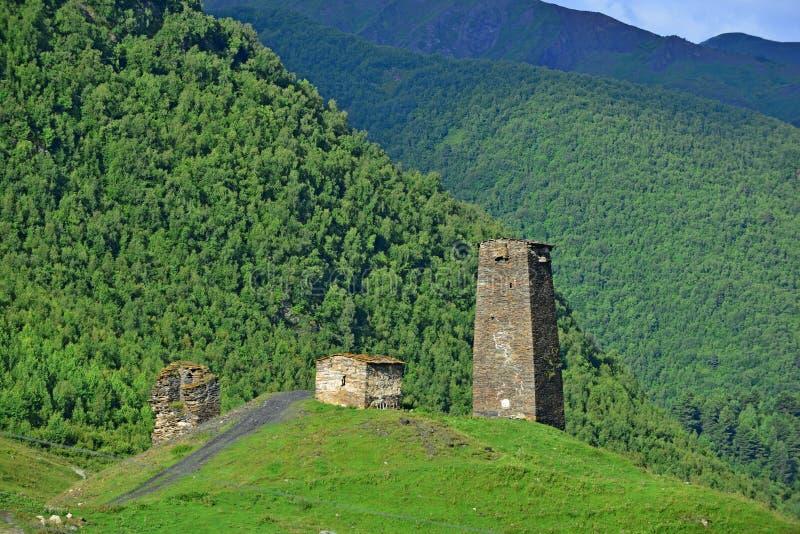Πύργοι Svanetian, Γεωργία στοκ εικόνες με δικαίωμα ελεύθερης χρήσης