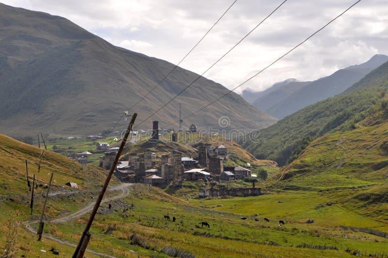 Πύργοι Svanetian στοκ εικόνα με δικαίωμα ελεύθερης χρήσης