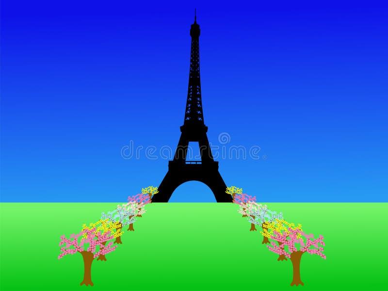 πύργος άνοιξη του Άιφελ ελεύθερη απεικόνιση δικαιώματος