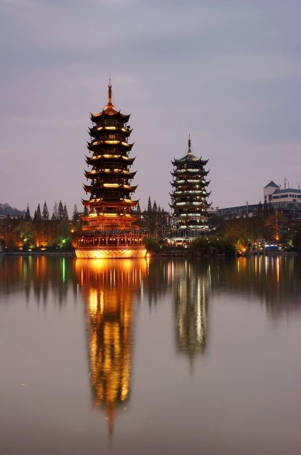 πύργος ήλιων φεγγαριών στοκ εικόνες