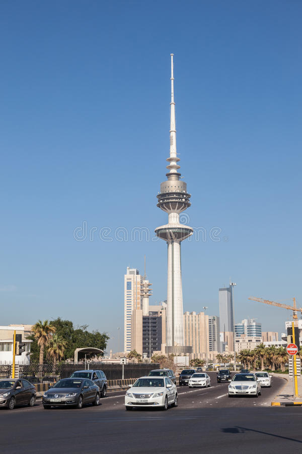 Πύργος απελευθέρωσης στο Κουβέιτ Cit στοκ φωτογραφία με δικαίωμα ελεύθερης χρήσης