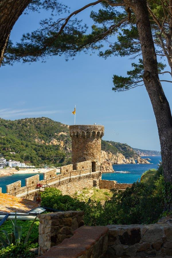 Πύργος από Tossa de Mar στοκ φωτογραφία με δικαίωμα ελεύθερης χρήσης