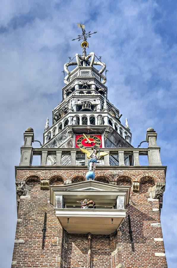 Πύργος Δημαρχείων με τις διακοσμήσεις στοκ φωτογραφία