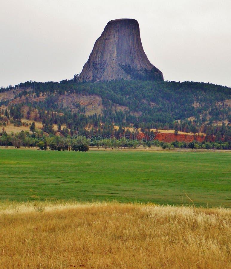Πύργος διαβόλου στο Ουαϊόμινγκ, ένας μεγάλος βράχος! στοκ εικόνα με δικαίωμα ελεύθερης χρήσης