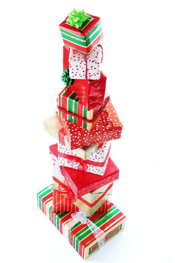 πύργος δώρων Χριστουγέννω& στοκ φωτογραφία με δικαίωμα ελεύθερης χρήσης