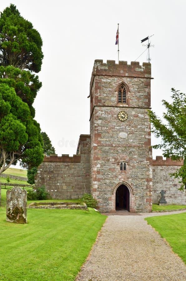 Πύργος εκκλησιών κόκκινου ψαμμίτη στοκ φωτογραφία