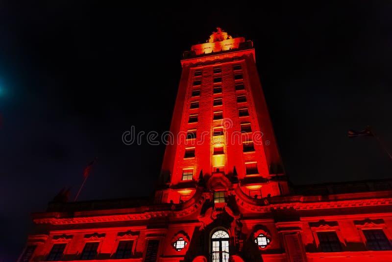 Πύργος ελευθερίας στο στο κέντρο της πόλης Μαϊάμι σε μια σαφή νύχτα στοκ εικόνες