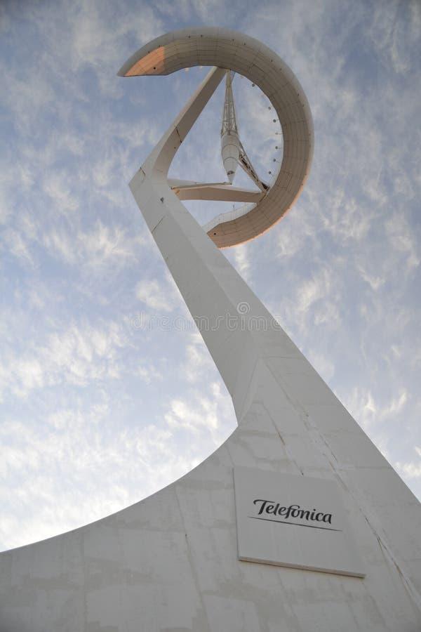 Πύργος επικοινωνιών Montjuïc στοκ φωτογραφία με δικαίωμα ελεύθερης χρήσης