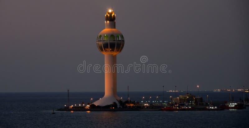 Πύργος ελέγχου λιμένων Jeddah στοκ εικόνα με δικαίωμα ελεύθερης χρήσης