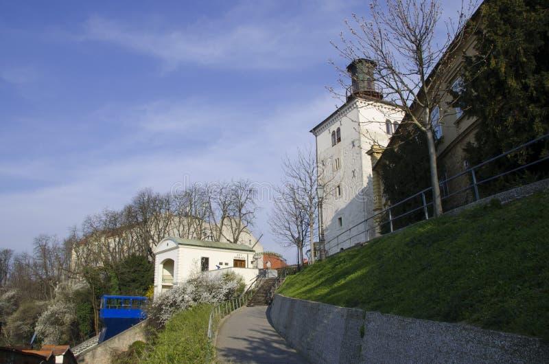 πύργος Ζάγκρεμπ της Κροατίας lotrscak στοκ φωτογραφία με δικαίωμα ελεύθερης χρήσης