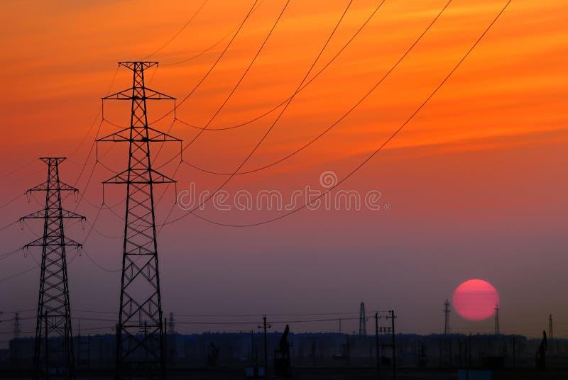 πύργος ηλιοβασιλέματο&sigmaf στοκ εικόνες