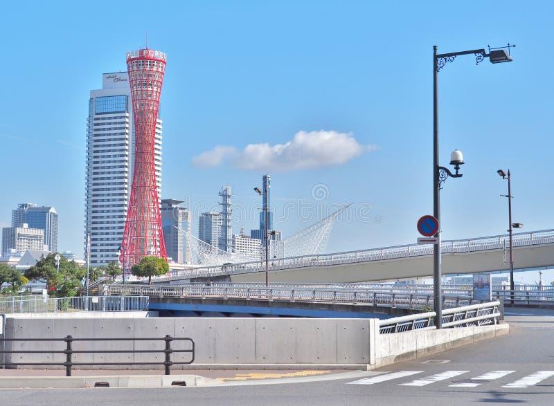 Πύργος λιμένων του Kobe με το μπλε ουρανό στο Kobe, Ιαπωνία στοκ εικόνα με δικαίωμα ελεύθερης χρήσης