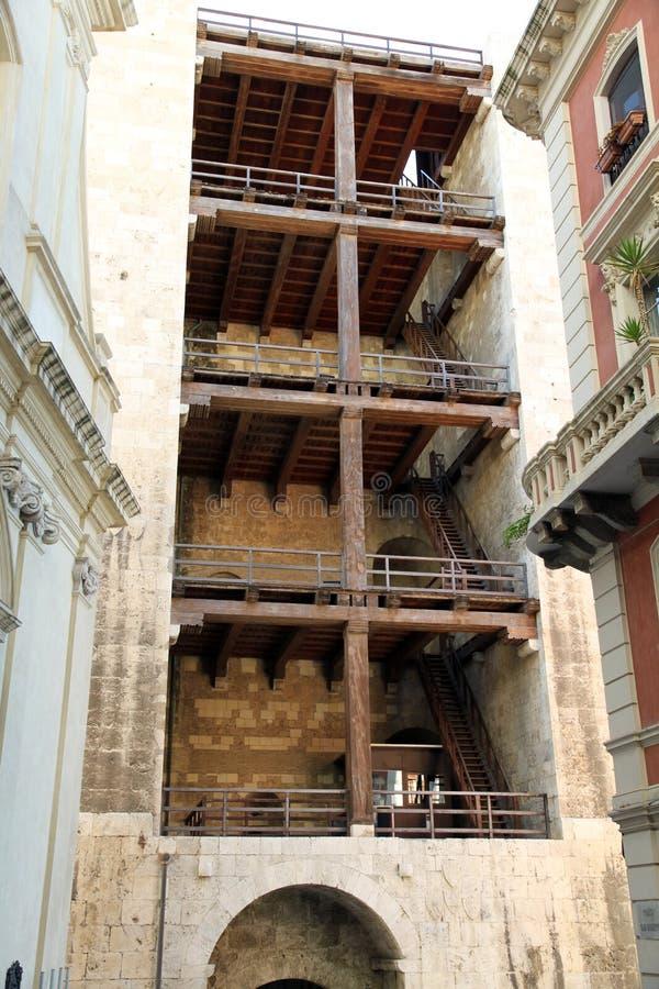 Πύργος Κάλιαρι ελεφάντων στοκ φωτογραφία με δικαίωμα ελεύθερης χρήσης