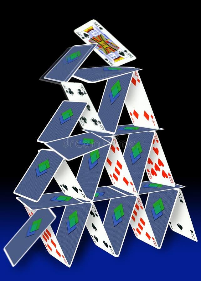 πύργος καρτών διανυσματική απεικόνιση