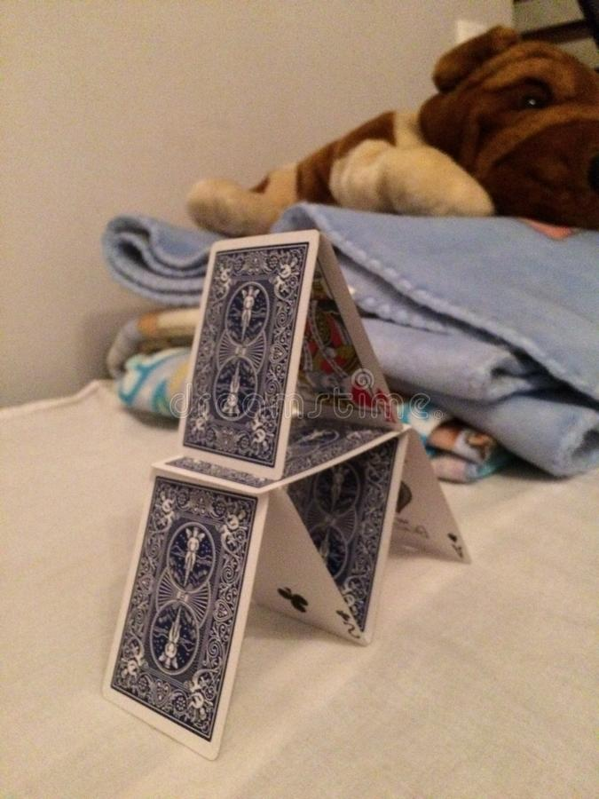 Πύργος καρτών στοκ φωτογραφία με δικαίωμα ελεύθερης χρήσης