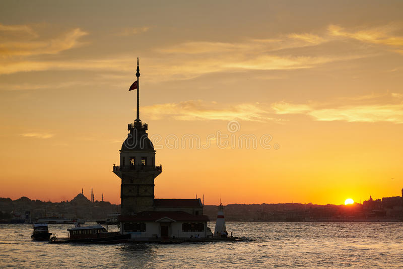 Πύργος κοριτσιών σε Bosphorus στοκ εικόνες με δικαίωμα ελεύθερης χρήσης