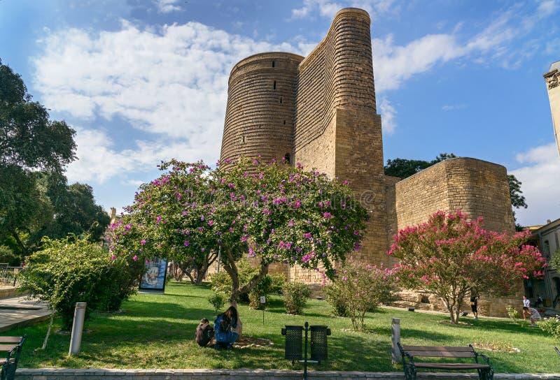 Πύργος κοριτσιών στην παλαιά πόλη, Icheri Sheher baklava στοκ εικόνες με δικαίωμα ελεύθερης χρήσης
