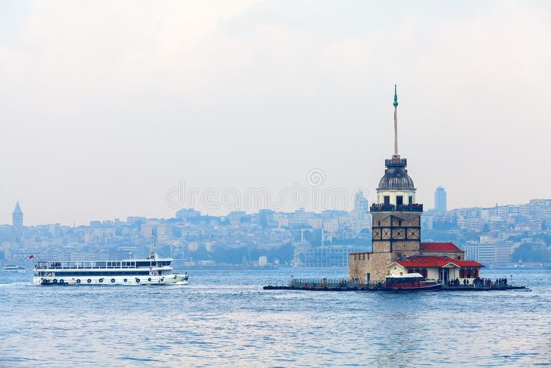 Πύργος κοριτσιών της Τουρκίας στοκ εικόνα με δικαίωμα ελεύθερης χρήσης