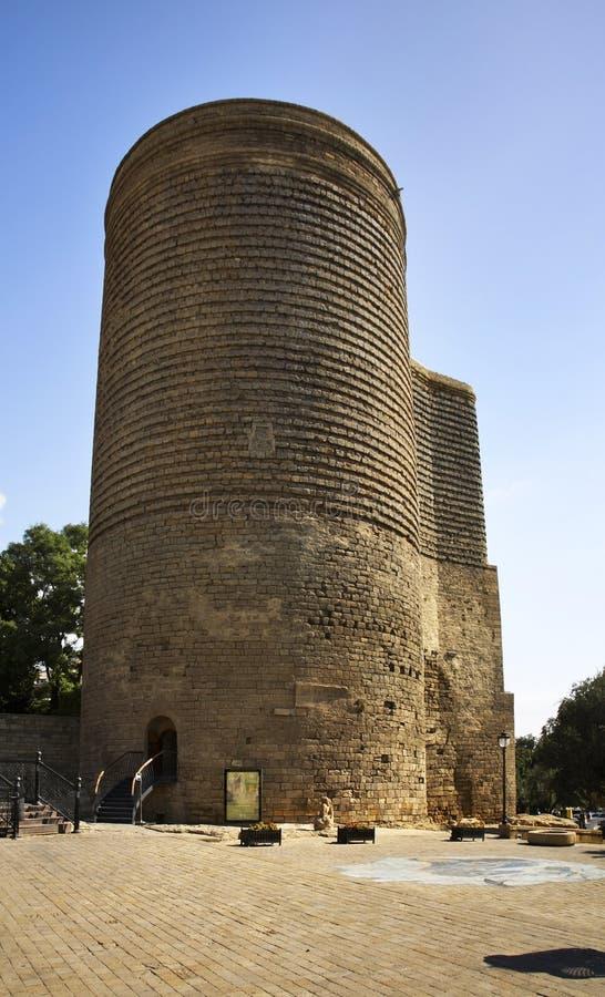Πύργος κοριτσιών (Giz Galasi) στο Μπακού φλυάρων στοκ εικόνες