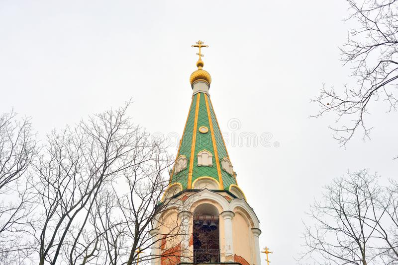 Πύργος κουδουνιών στη μονή Voskresensky Novodevichy στοκ φωτογραφία με δικαίωμα ελεύθερης χρήσης