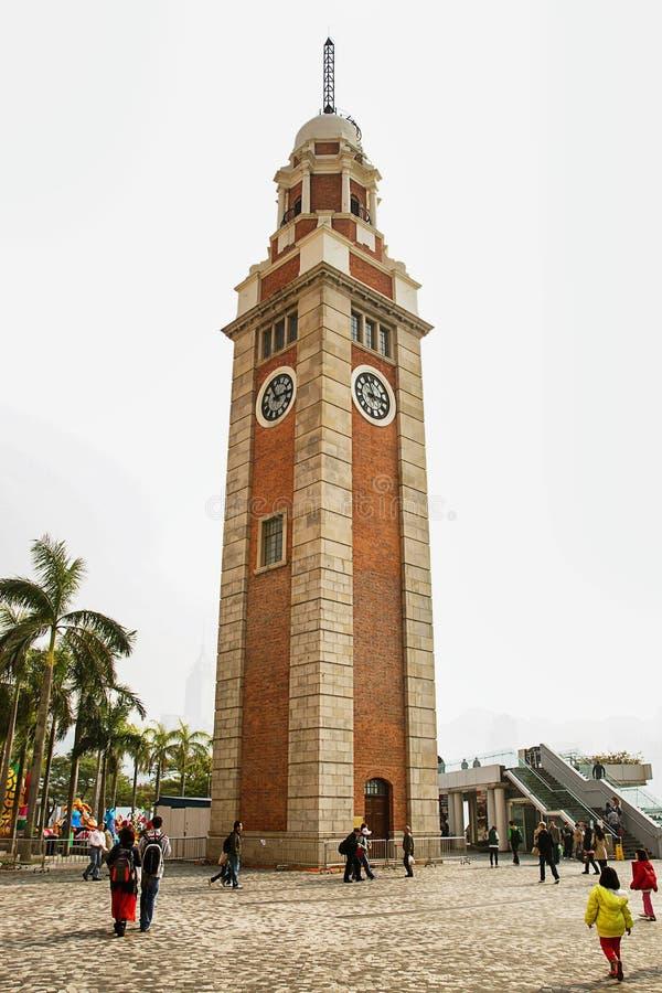 Πύργος κουδουνιών στο ανάχωμα σε Kowloon στο Χονγκ Κονγκ στοκ φωτογραφία με δικαίωμα ελεύθερης χρήσης