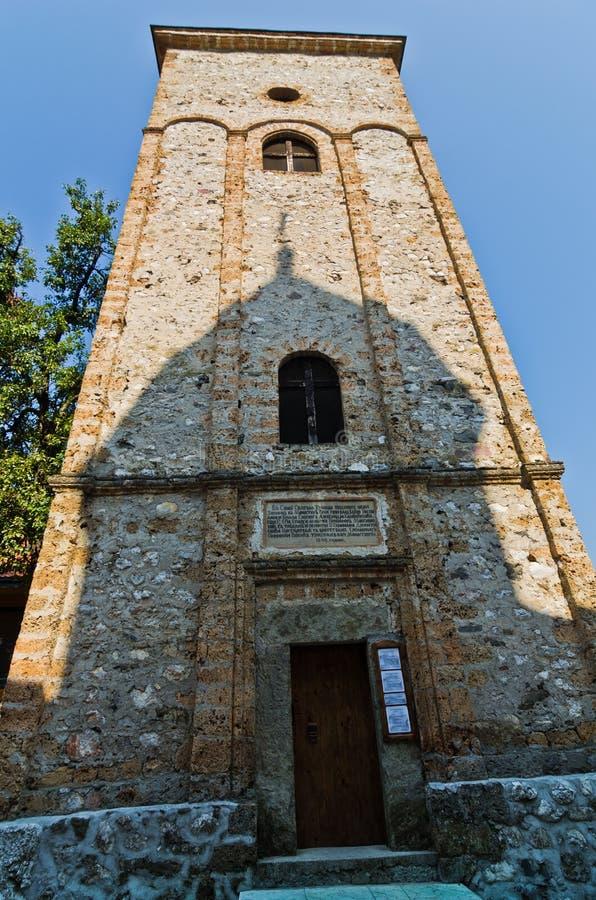 Πύργος κουδουνιών στο μοναστήρι Raca που καθιερώνεται σε 13 αιώνας στοκ φωτογραφία με δικαίωμα ελεύθερης χρήσης
