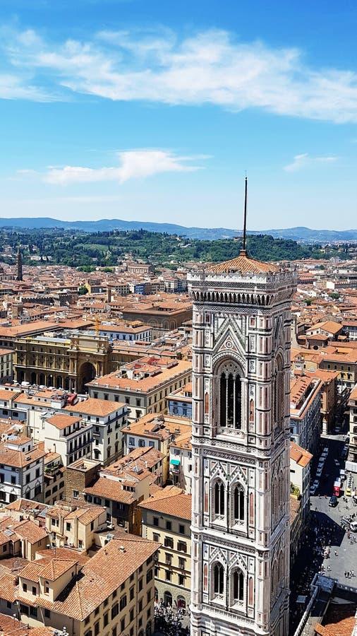Πύργος κουδουνιών του καθεδρικού ναού της Φλωρεντίας, Ιταλία στοκ φωτογραφία με δικαίωμα ελεύθερης χρήσης