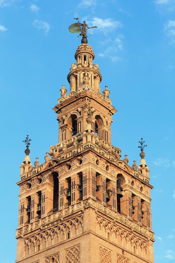Πύργος κουδουνιών Giralda, Σεβίλη, Ισπανία στοκ εικόνα