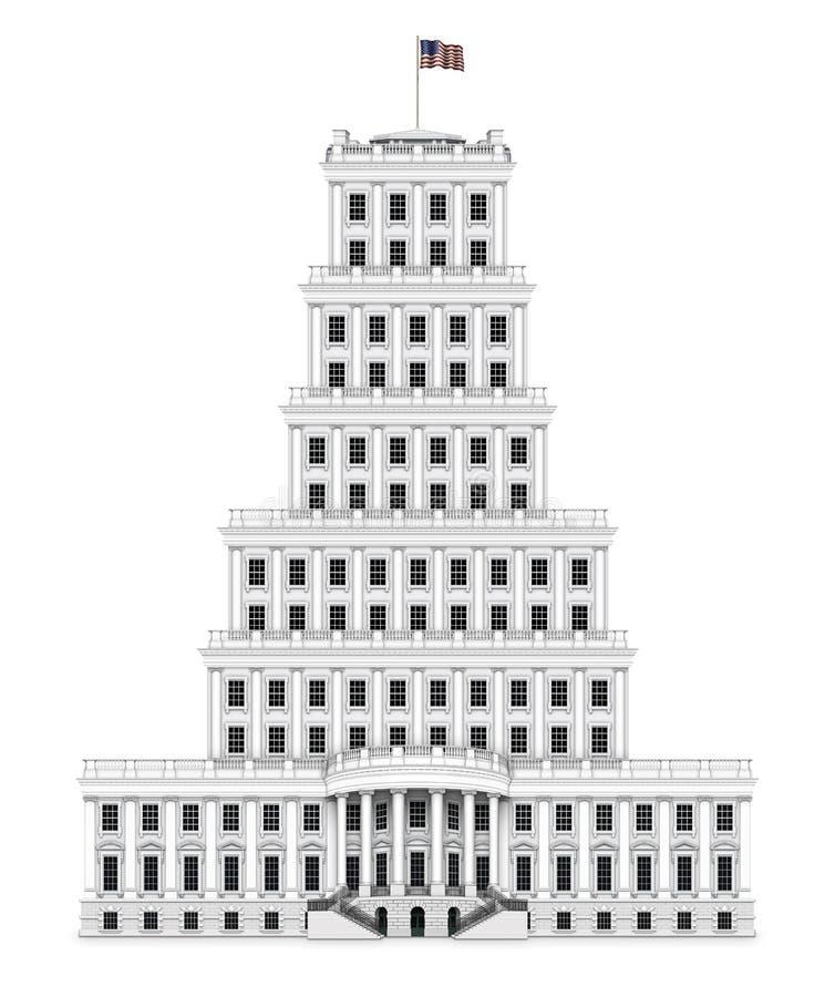 Πύργος Λευκών Οίκων διανυσματική απεικόνιση