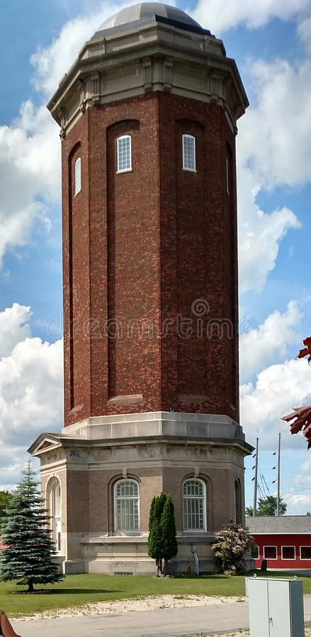 Πύργος νερού του Μίτσιγκαν Manistique στοκ εικόνες