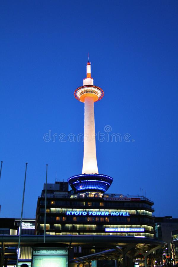 πύργος νύχτας του Κιότο στοκ φωτογραφία