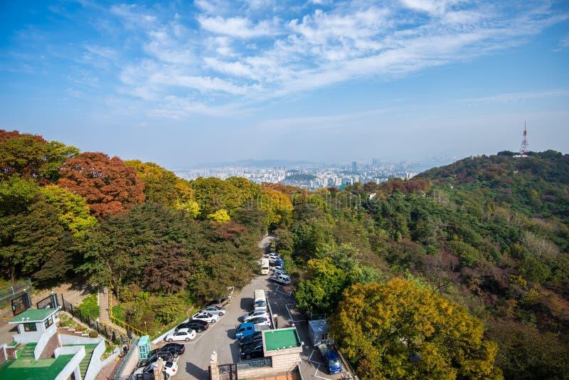 Πύργος Ν Σεούλ στοκ εικόνες με δικαίωμα ελεύθερης χρήσης