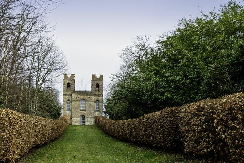 Πύργος πανοραμικών πυργίσκων, κήπος τοπίων Claremont, Esher, UK στοκ φωτογραφία με δικαίωμα ελεύθερης χρήσης