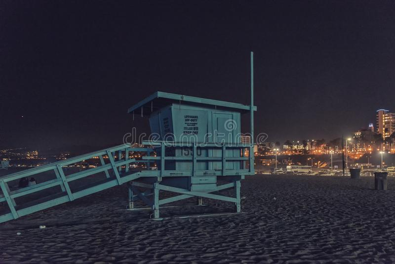 Πύργος παραλιών της Σάντα Μόνικα lifeguard στοκ φωτογραφίες με δικαίωμα ελεύθερης χρήσης