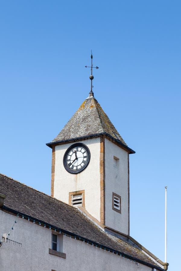 Πύργος ρολογιών Δημαρχείων Lauder στα σκωτσέζικα σύνορα στοκ εικόνες