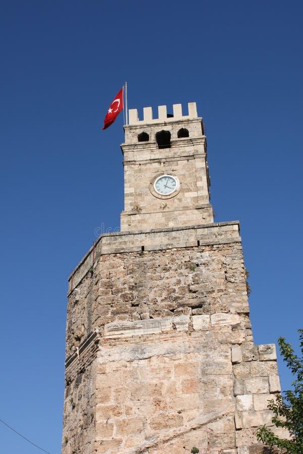 πύργος ρολογιών antalya Τουρκί& στοκ φωτογραφία με δικαίωμα ελεύθερης χρήσης