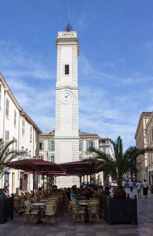 Download Πύργος ρολογιών Νιμ Γαλλία εκδοτική εικόνες. εικόνα από πρόσοψη - 62705721