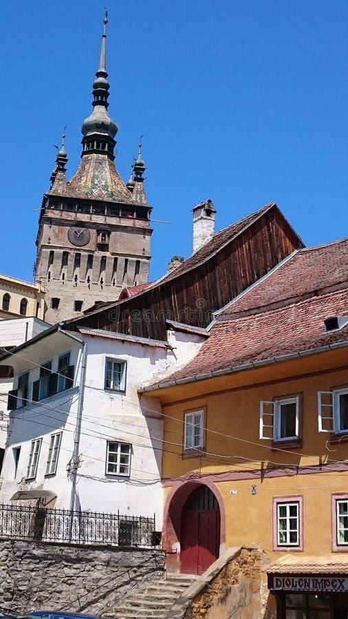 Πύργος ρολογιών Sighisoara στοκ εικόνες με δικαίωμα ελεύθερης χρήσης