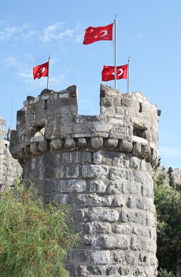 Πύργος σε Bodrum Castle, Τουρκία στοκ εικόνες