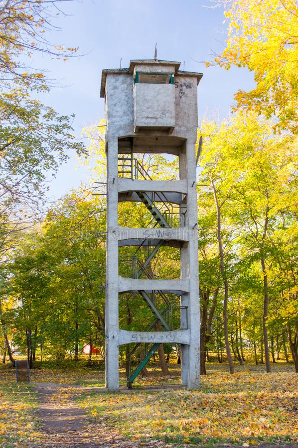 Πύργος σε Westerplatte στο Γντανσκ, Πολωνία στοκ εικόνα