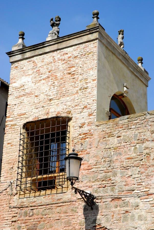 Πύργος στην οδό Tati στην Πάδοβα στο Βένετο (Ιταλία) στοκ εικόνα με δικαίωμα ελεύθερης χρήσης