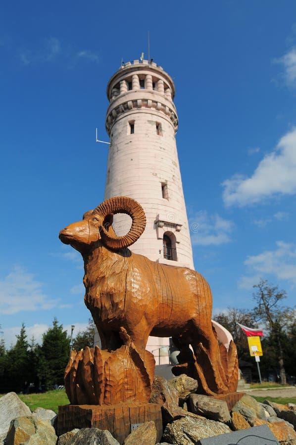 Πύργος στη μεγάλη κουκουβάγια Wielka Sowa στοκ φωτογραφία με δικαίωμα ελεύθερης χρήσης