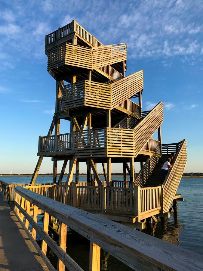 Πύργος στο θαλάσσιο περίπατο του Port-Royal στοκ φωτογραφίες με δικαίωμα ελεύθερης χρήσης