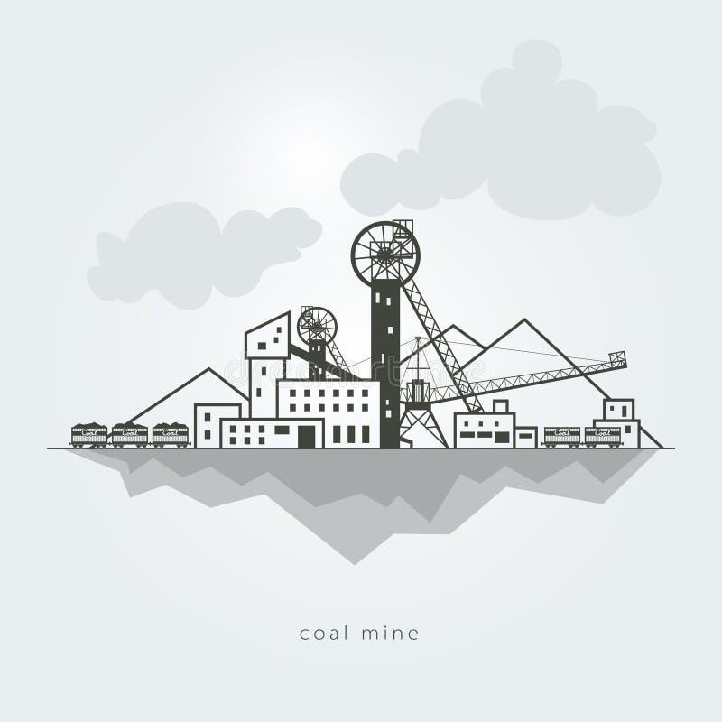 Πύργος στο μπλε ουρανό διανυσματική απεικόνιση