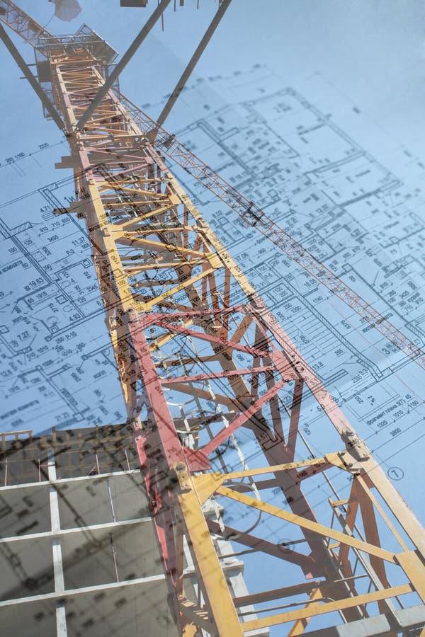 πύργος σχεδίων γερανών στοκ εικόνα με δικαίωμα ελεύθερης χρήσης