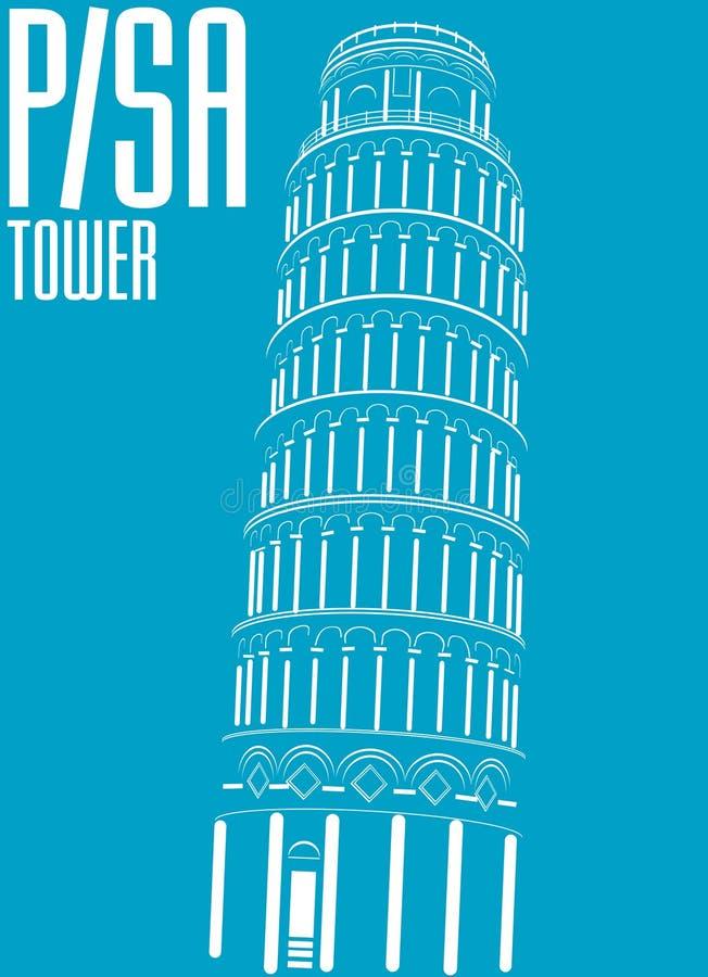 πύργος της Ιταλίας Πίζα διανυσματική απεικόνιση