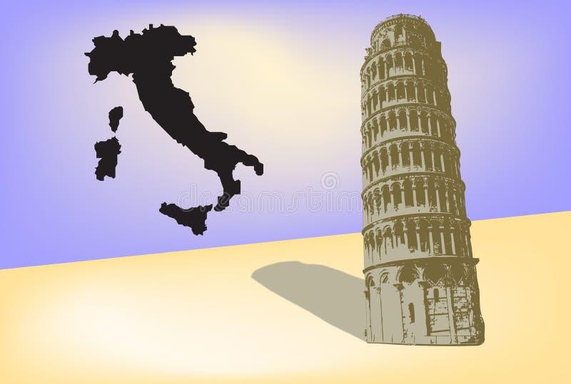 πύργος της Πίζας διανυσματική απεικόνιση