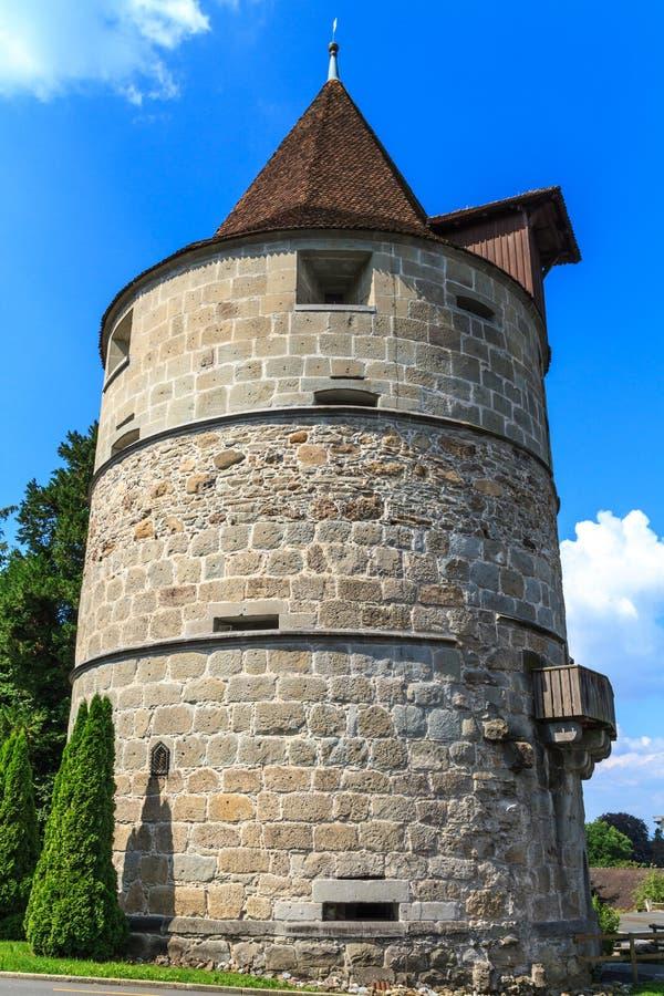 Πύργος της πόλης των οχυρώσεων Zug στοκ φωτογραφία με δικαίωμα ελεύθερης χρήσης