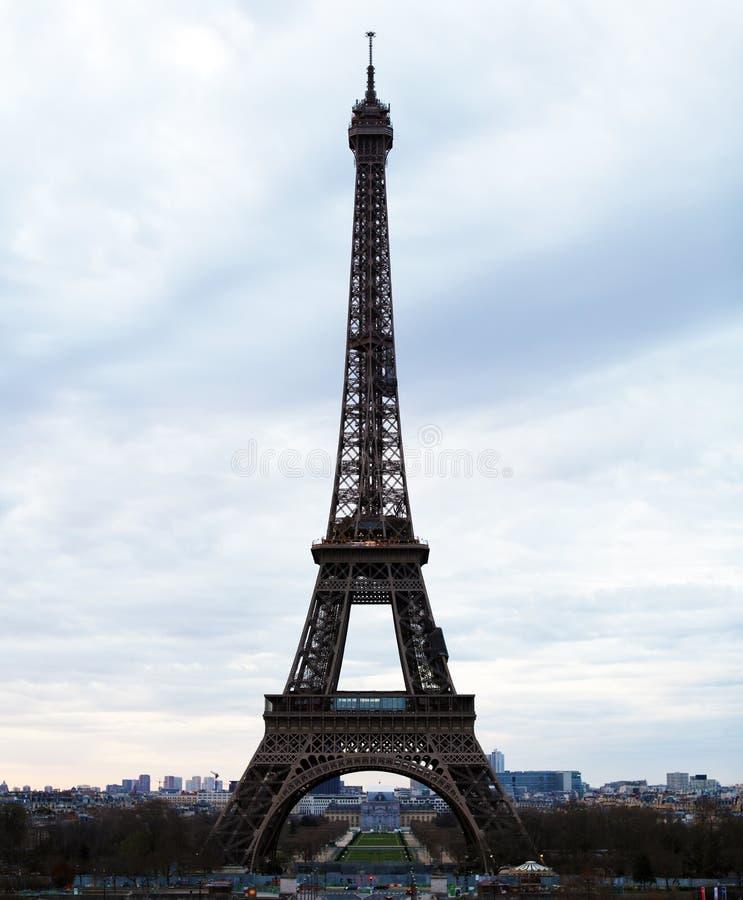 Πύργος του Άιφελ παγκόσμιων διασημότερος ορόσημων στο Παρίσι Γαλλία κατά τη διάρκεια της ανατολής κανένας άνθρωπος στην εικόνα στοκ φωτογραφίες με δικαίωμα ελεύθερης χρήσης