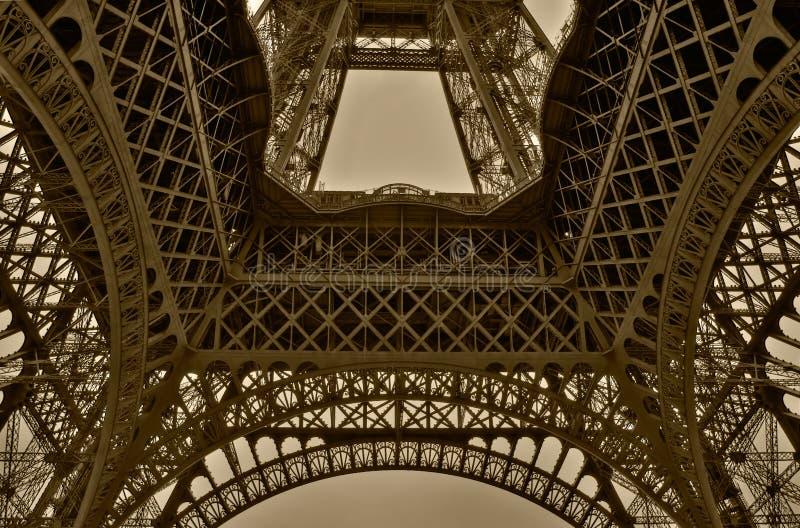 πύργος του Άιφελ Παρίσι γωνίας ευρέως στοκ φωτογραφία με δικαίωμα ελεύθερης χρήσης